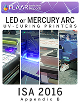 Which brands, which models, of UV-cured printers have LED or Mercury curing systems.