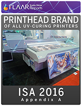 Which Printheads are in which brand of UV-cured printer.